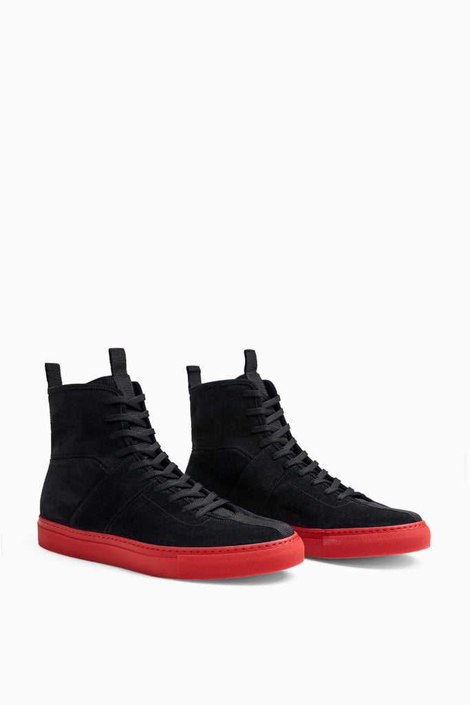black/red high top roamers by daniel patrick