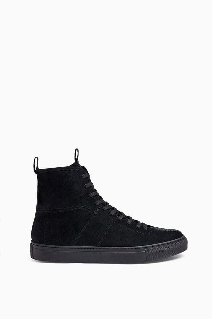 black high top sneakers by daniel patrick