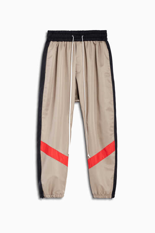 parachute track pant ii in wheat/black/red by daniel patrick