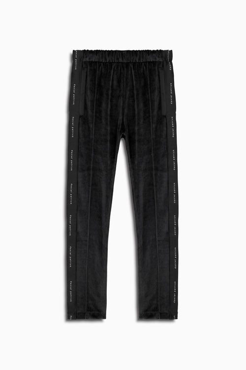 womens velour track pants in black by daniel patrick