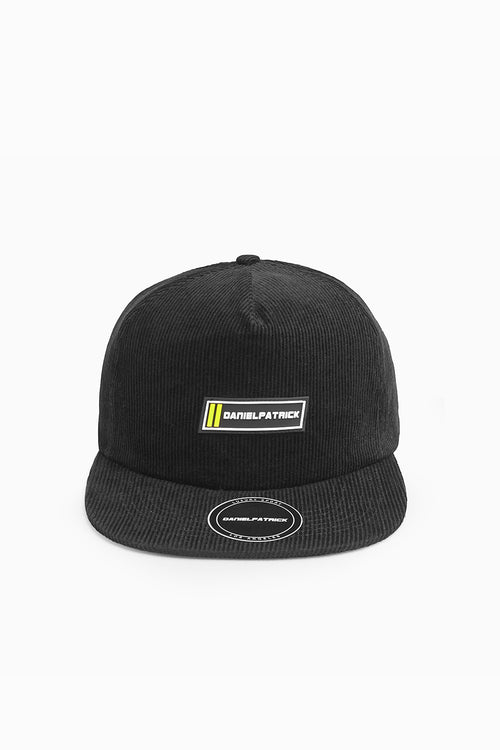DP 5 panel racing cap in black by daniel patrick