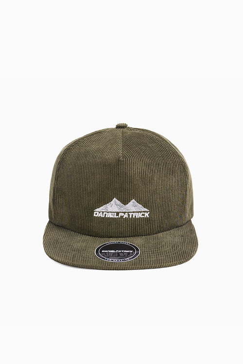 moving mountains cap in forest green/white by daniel patrick