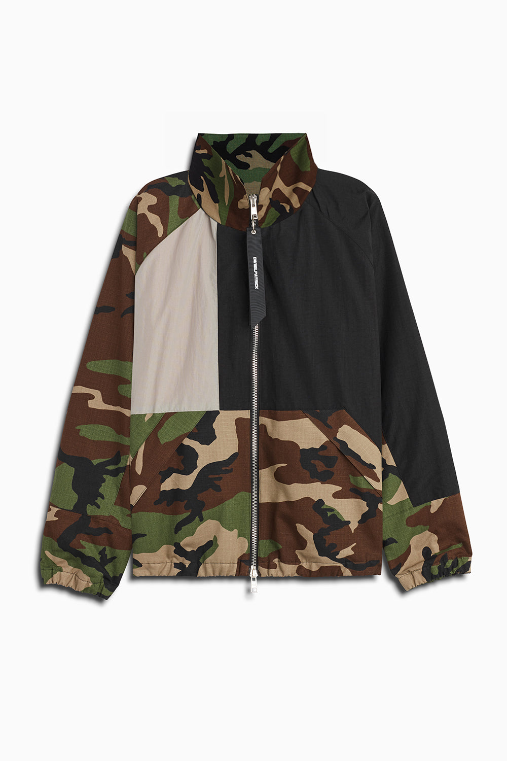 M93 track jacket in camo/smog grey/black by daniel patrick