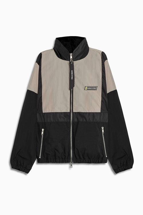 2020 track jacket in smog grey/black by daniel patrick