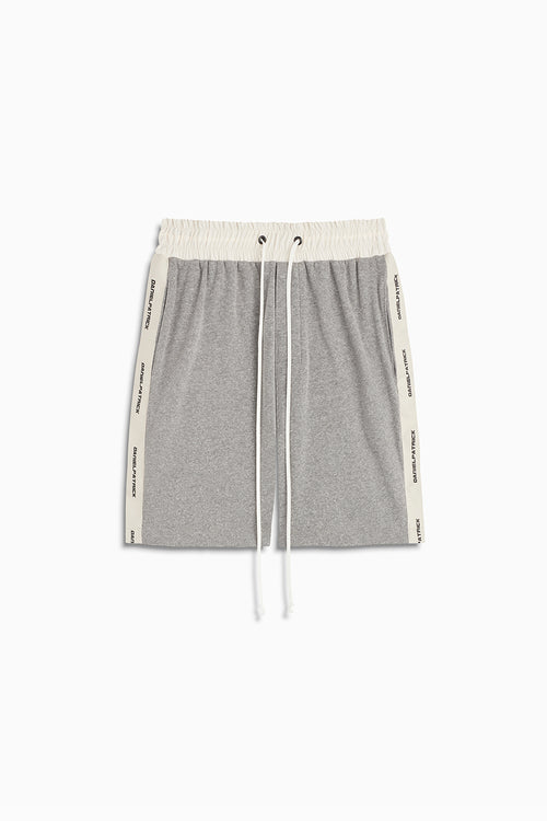 loop terry gym shorts in heather grey/ivory by daniel patrick
