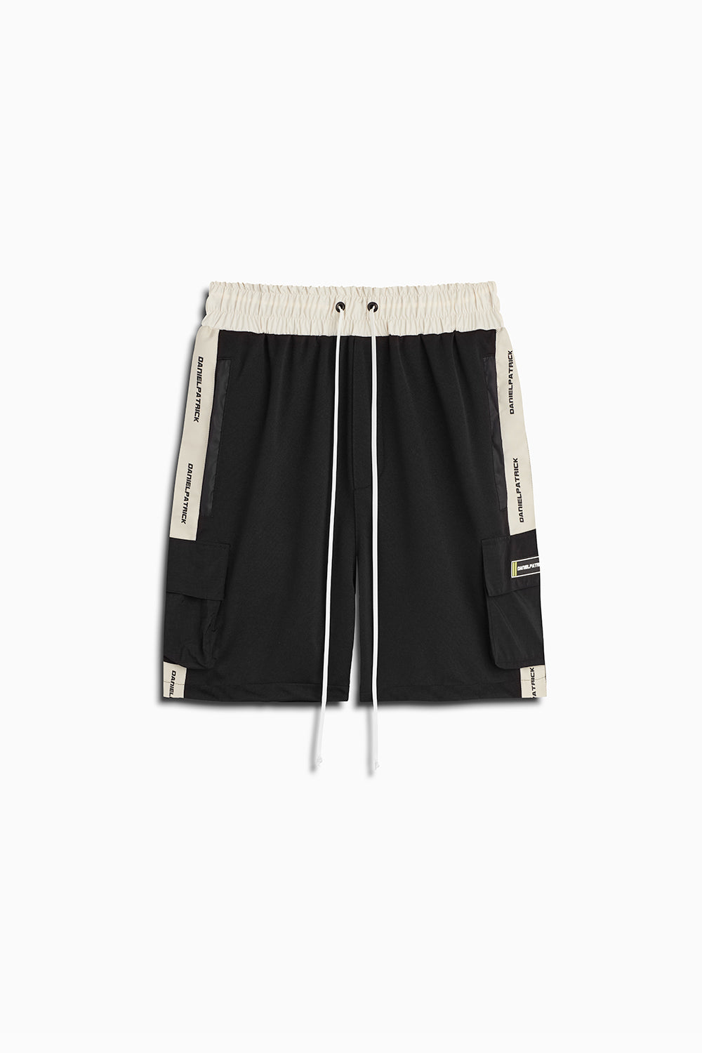 cargo gym short in black/ivory by daniel patrick