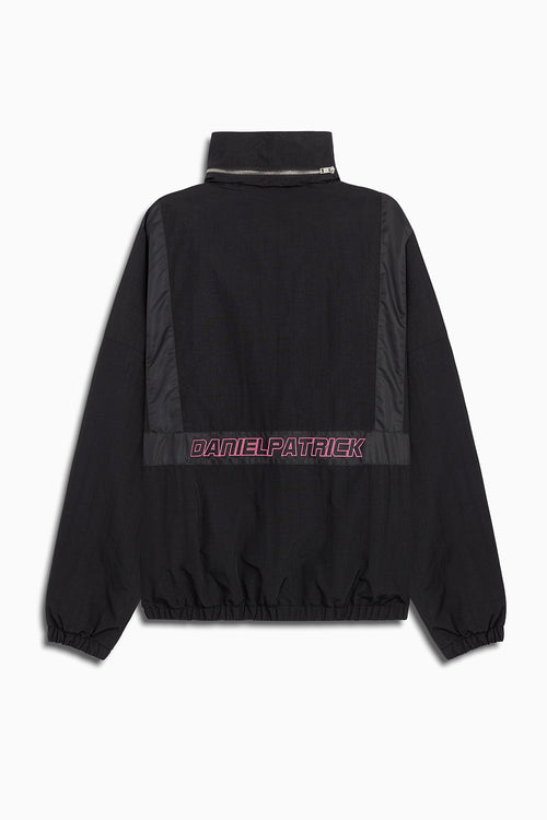 2020 track jacket in black/pink by daniel patrick