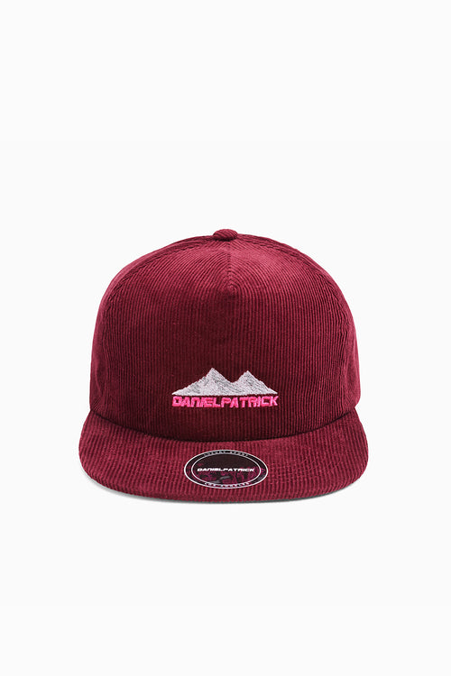 moving mountains cap in maroon/wildflower pink by daniel patrick