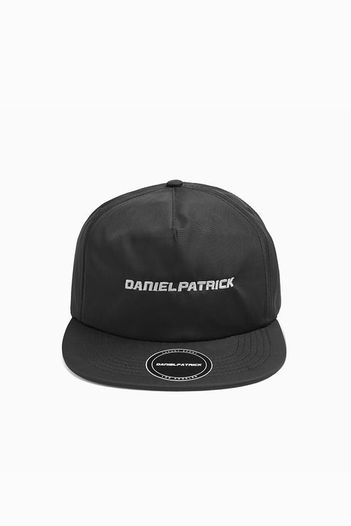 DP 5 panel cap in black/smog grey by daniel patrick