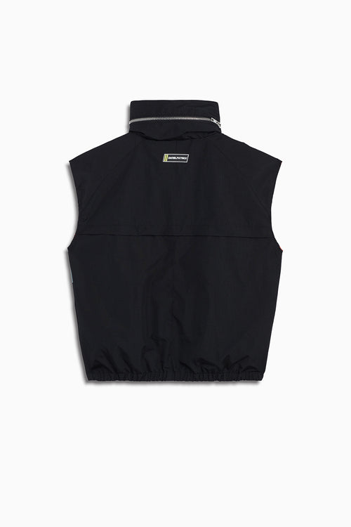 M93 cargo vest in black/smog grey/dust by daniel patrick