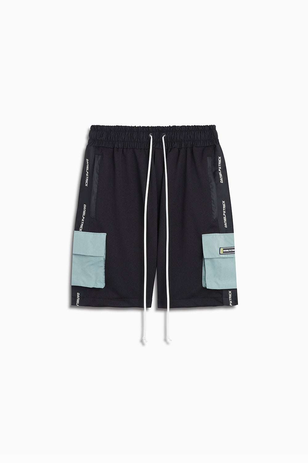 cargo gym short in black/sea foam by daniel patrick