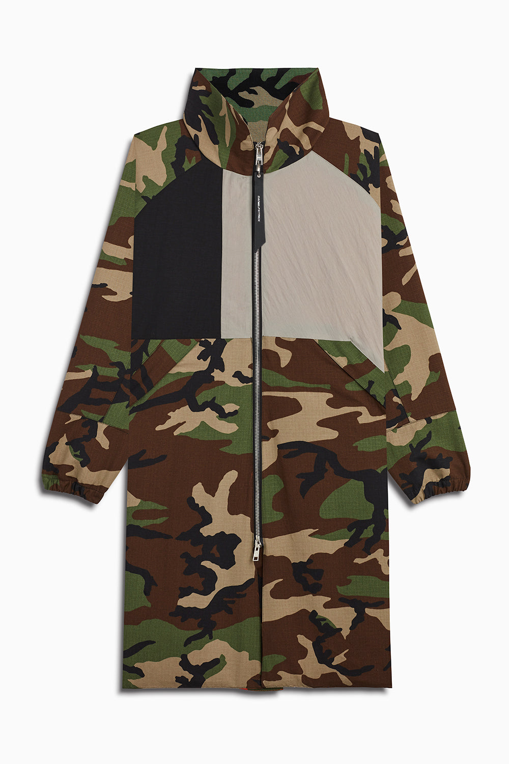 M93 track raincoat in camo/black/smog grey by daniel patrick