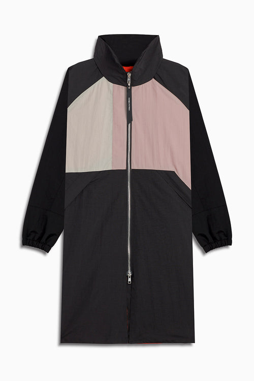 M93 track raincoat in black/smog grey/dust by daniel patrick