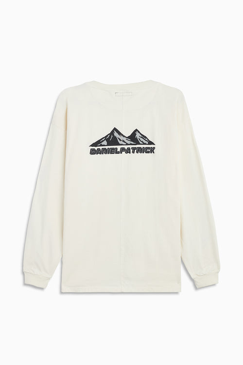 moving mountains l/s tee in natural by daniel patrick