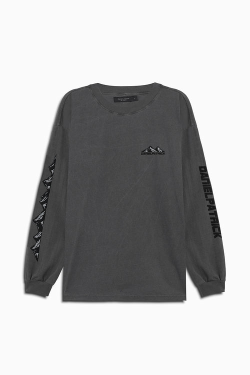 moving mountains l/s tee in vintage black by daniel patrick