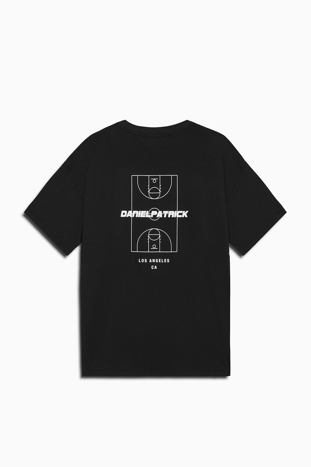 DP court tee in black by daniel patrick