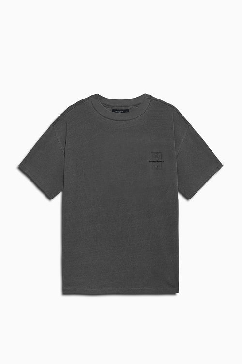 DP court tee in vintage black by daniel patrick