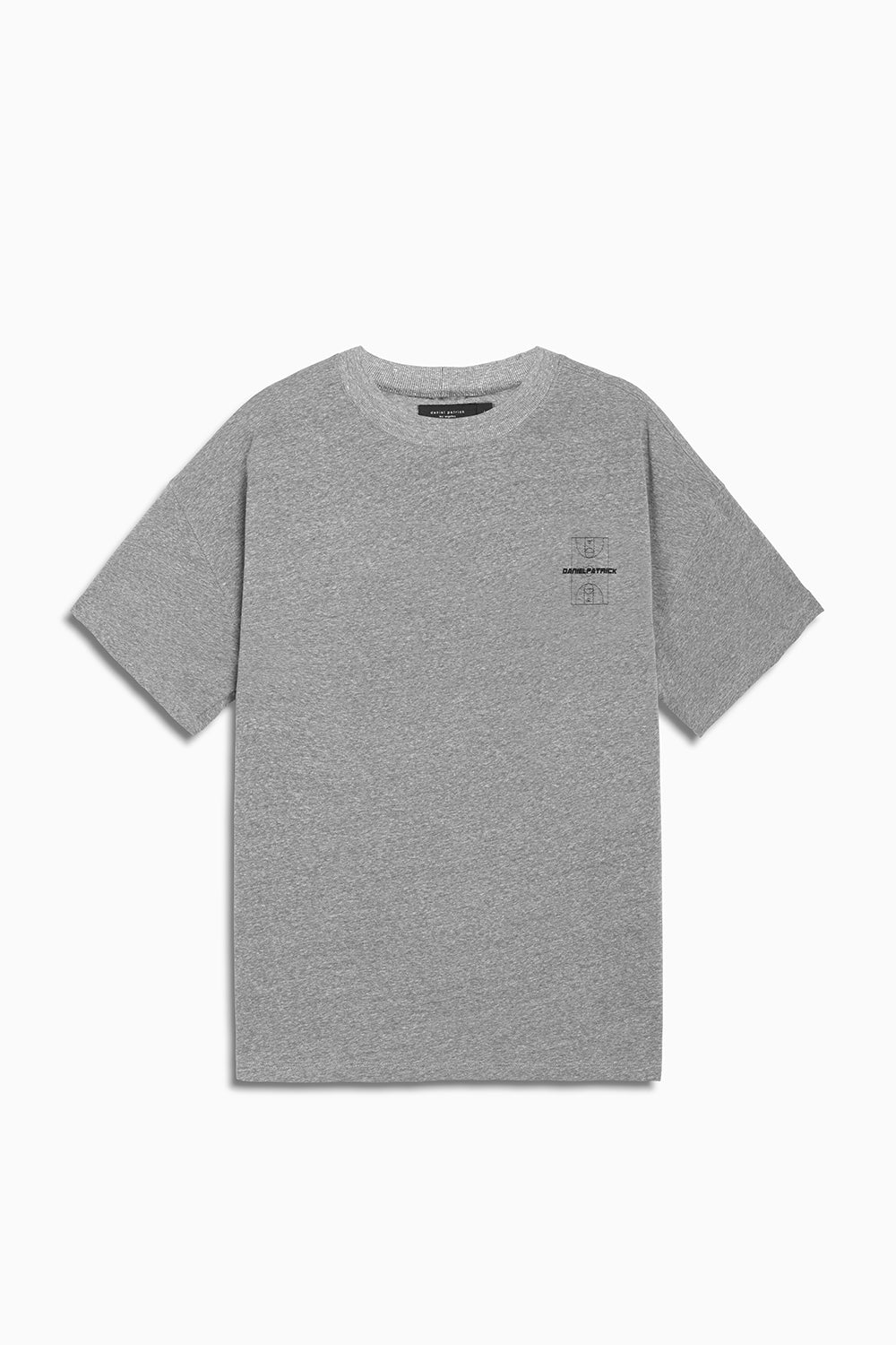 DP court tee in heather grey by daniel patrick