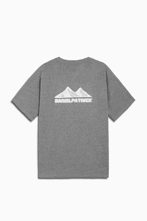 moving mountains tee in heather grey by daniel patrick