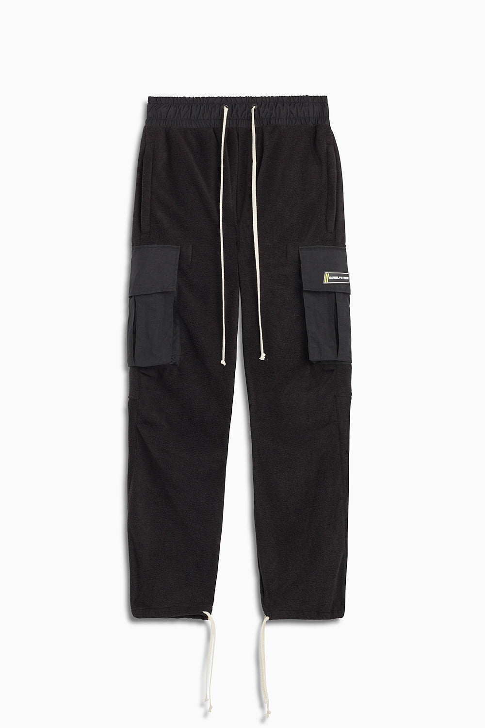 M93 cargo pants in black polar fleece/black by daniel patrick