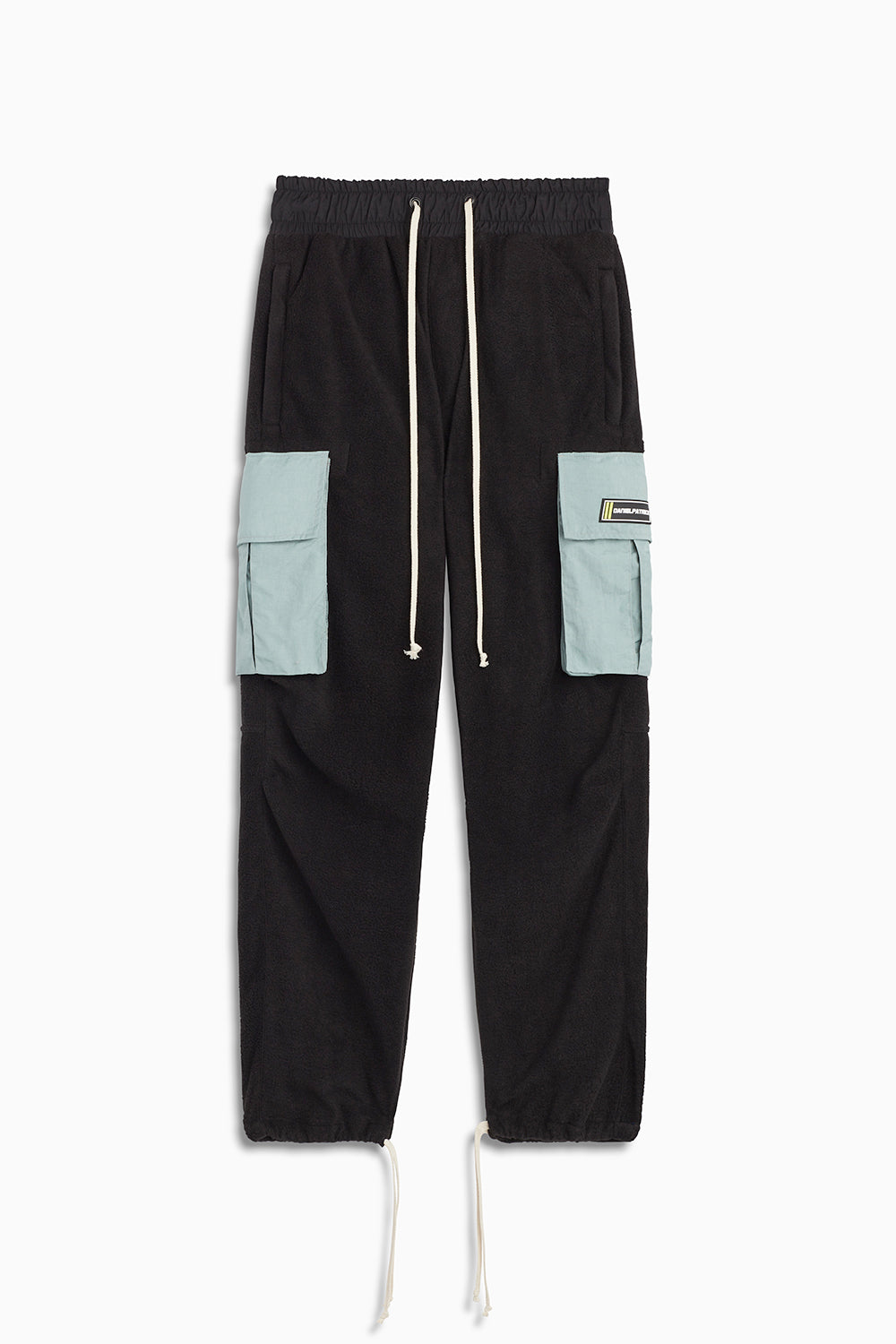 M93 cargo pants in black polar fleece/sea foam by daniel patrick