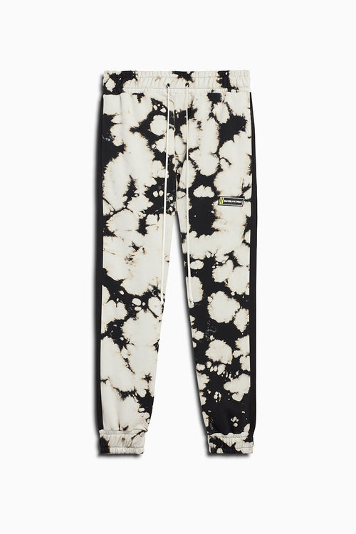 roaming track pant ii in white acid/black by daniel patrick
