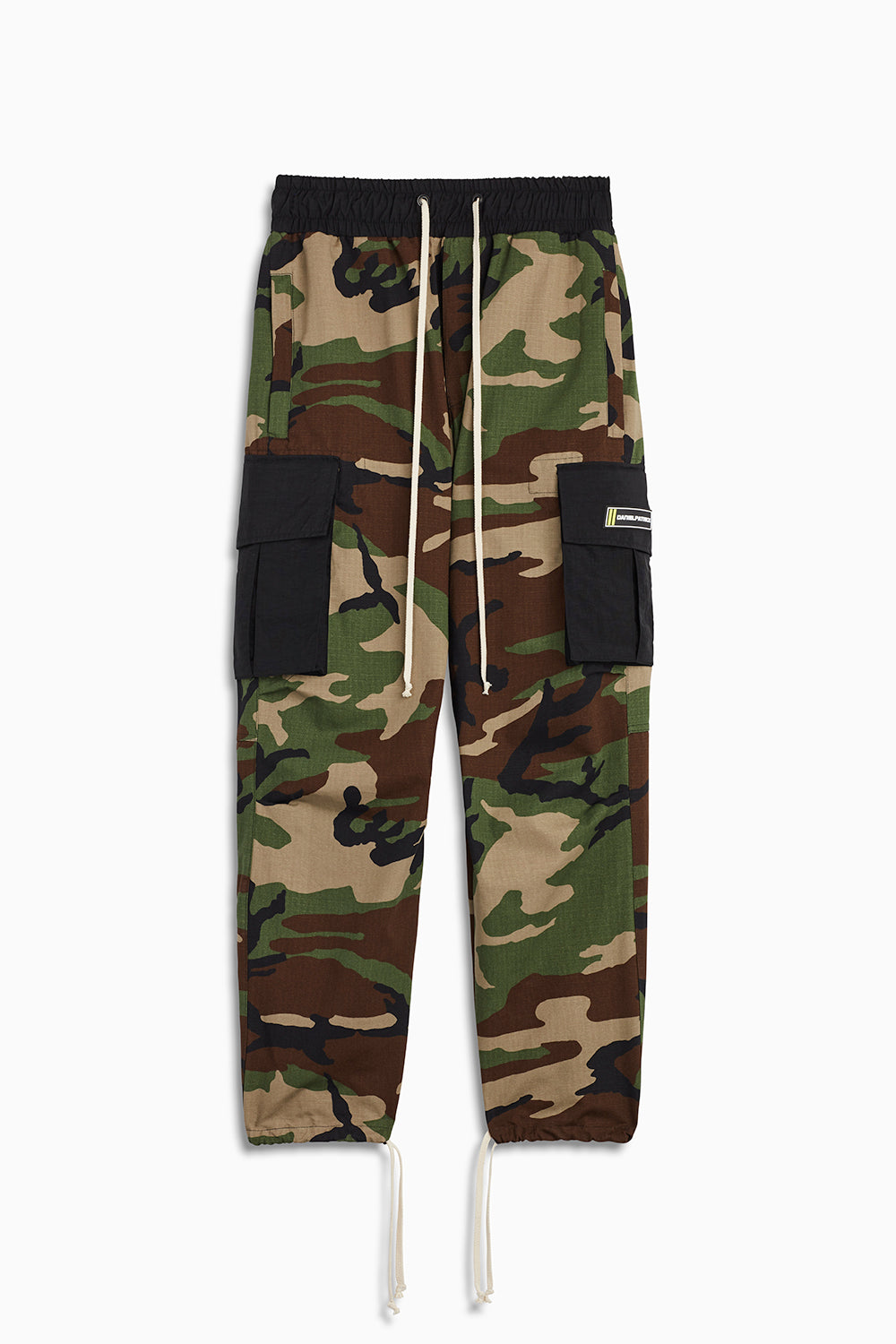 M93 cargo pants in camo/black by daniel patrick