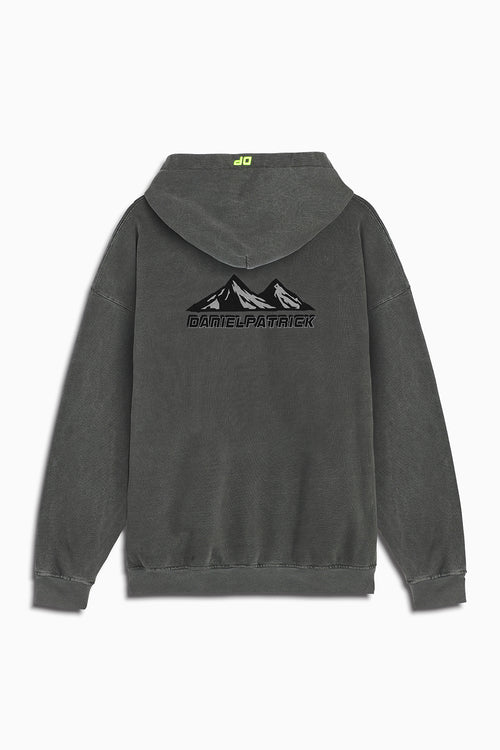 moving mountains hoodie in vintage black by daniel patrick