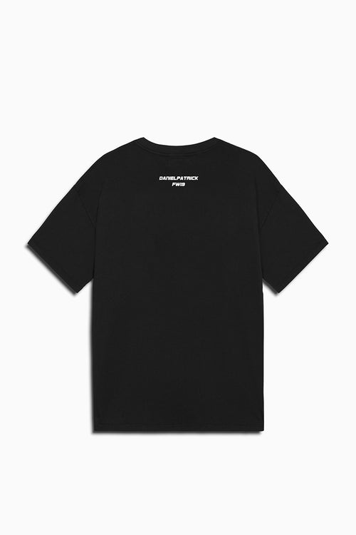 distressed square tee in black/grey by daniel patrick