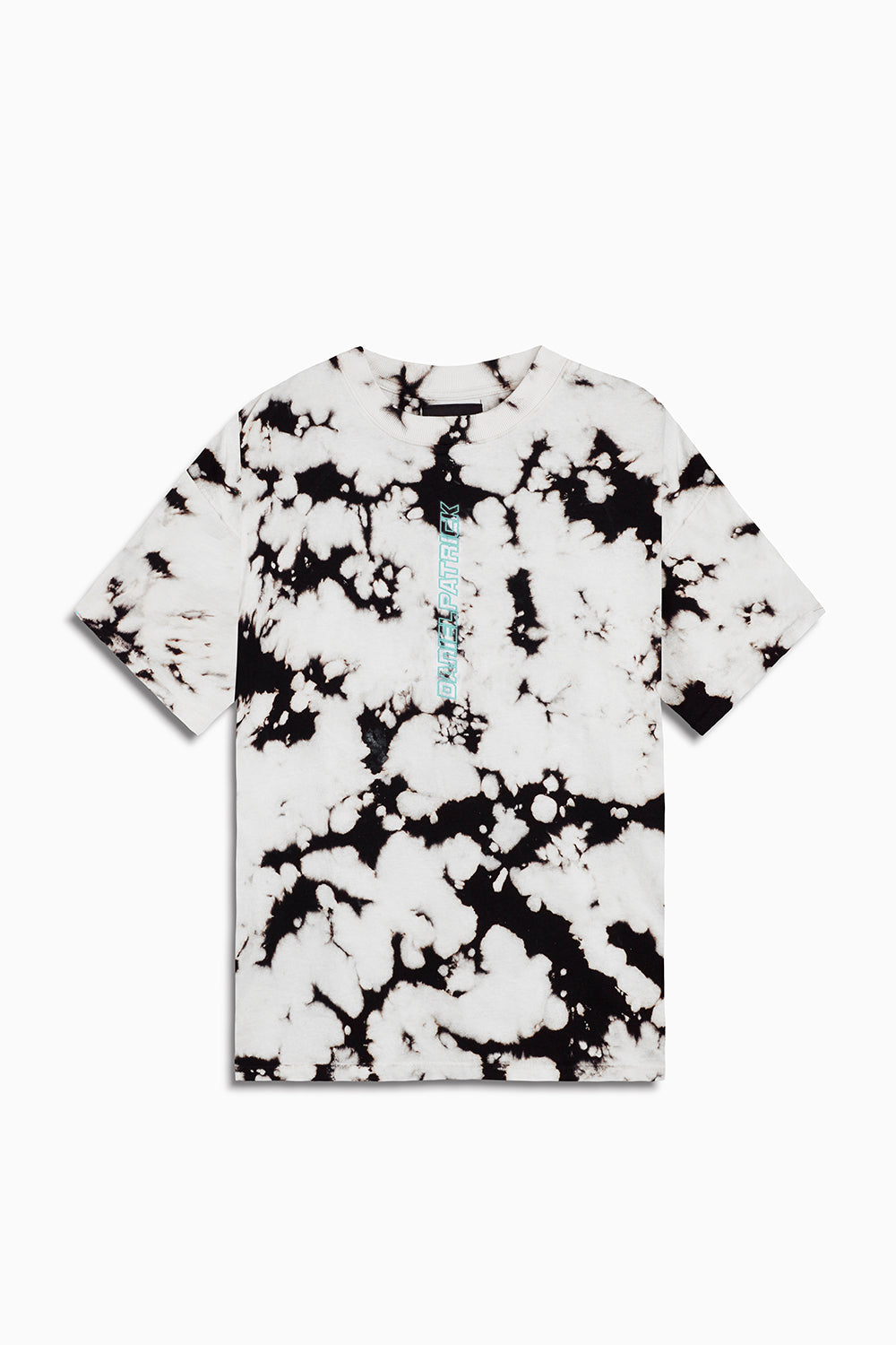 vertical logo tee in white acid/sea foam by daniel patrick