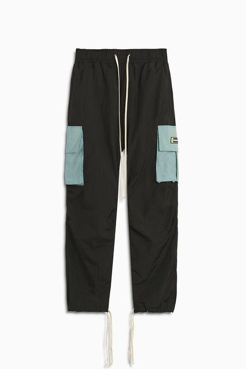 M93 cargo pant / black + sea foam