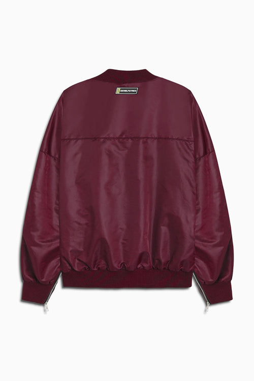 DP embroidered sleeve bomber / maroon