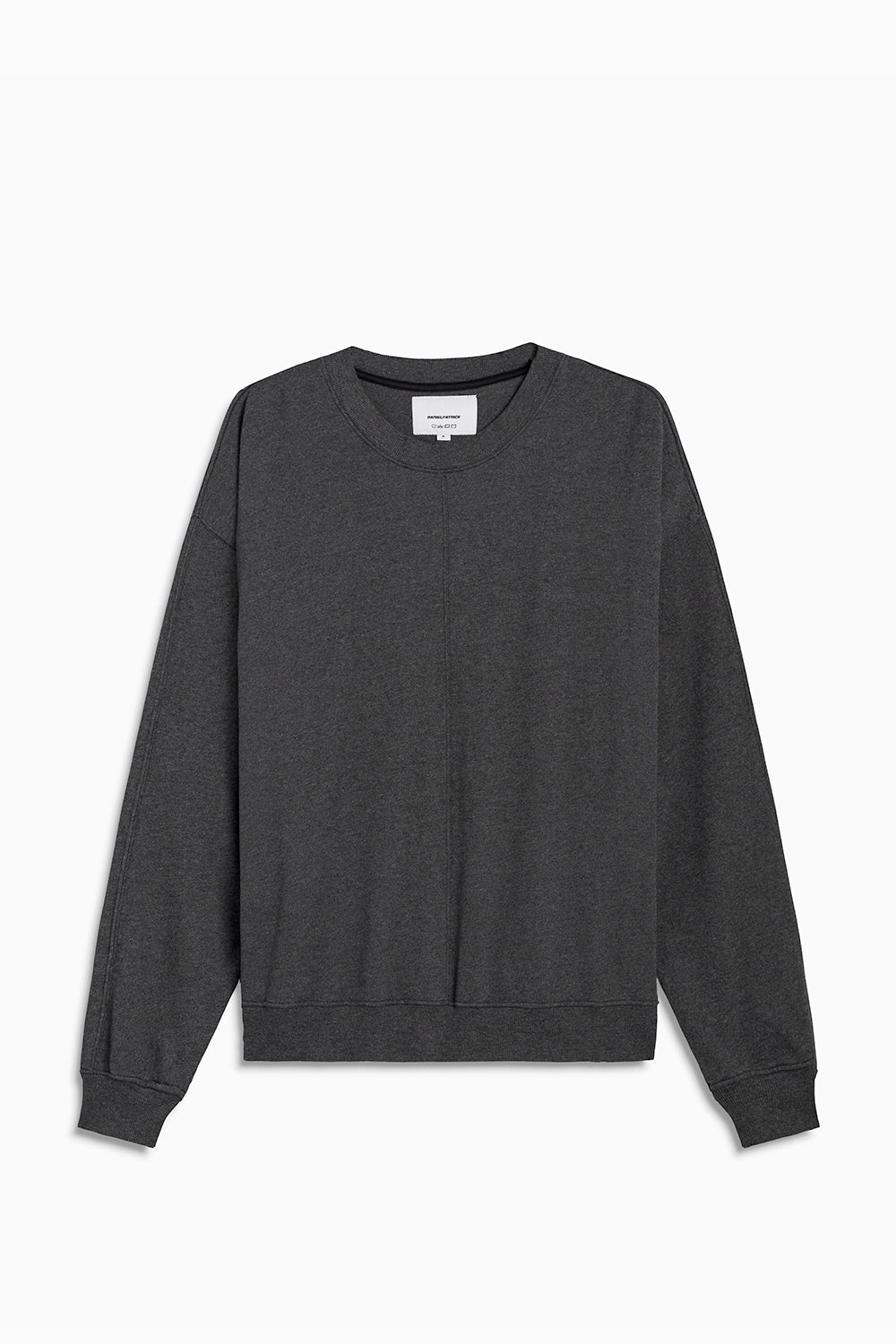 loop terry crewneck sweatshirt / black heather