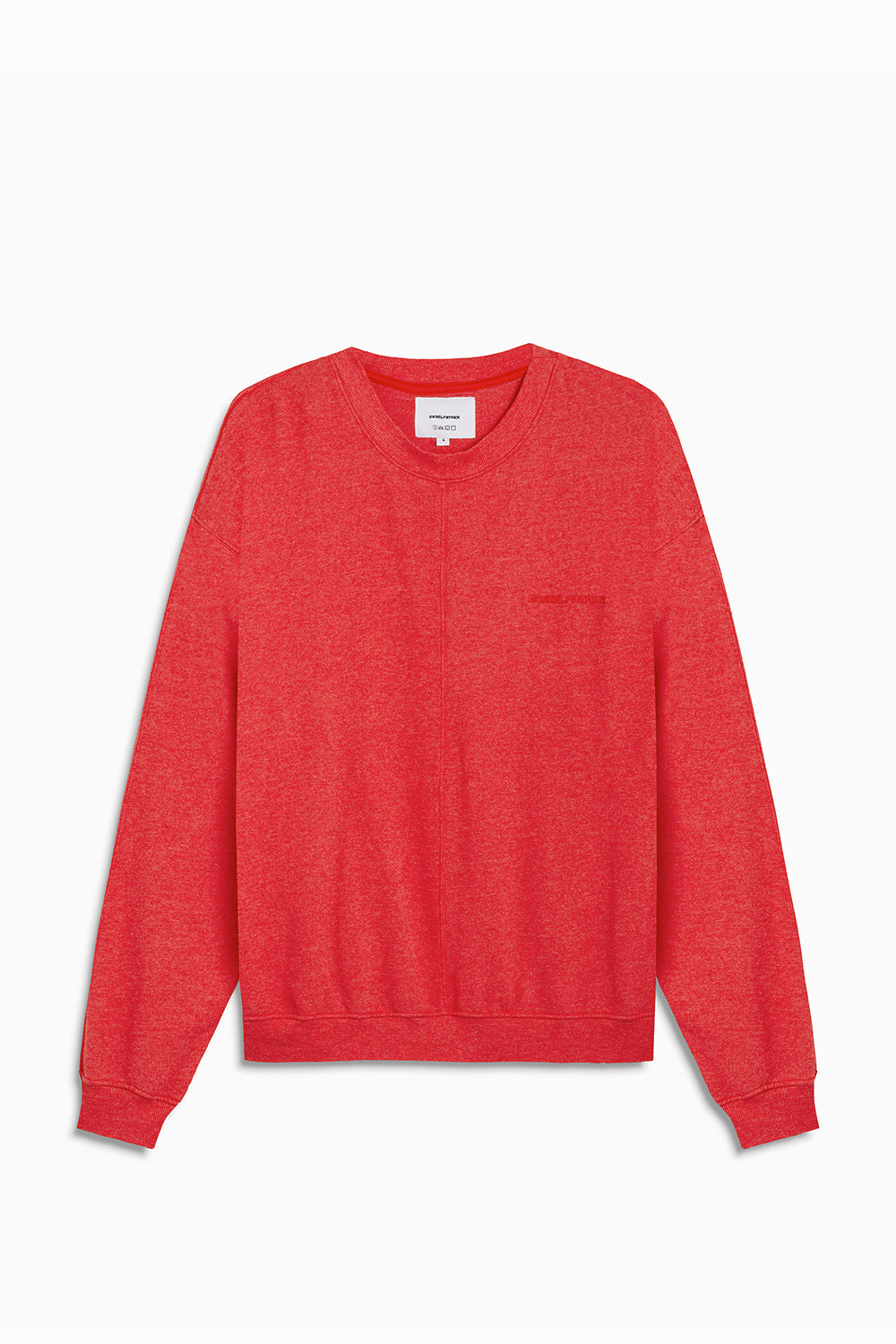 loop terry crewneck sweatshirt / red heather