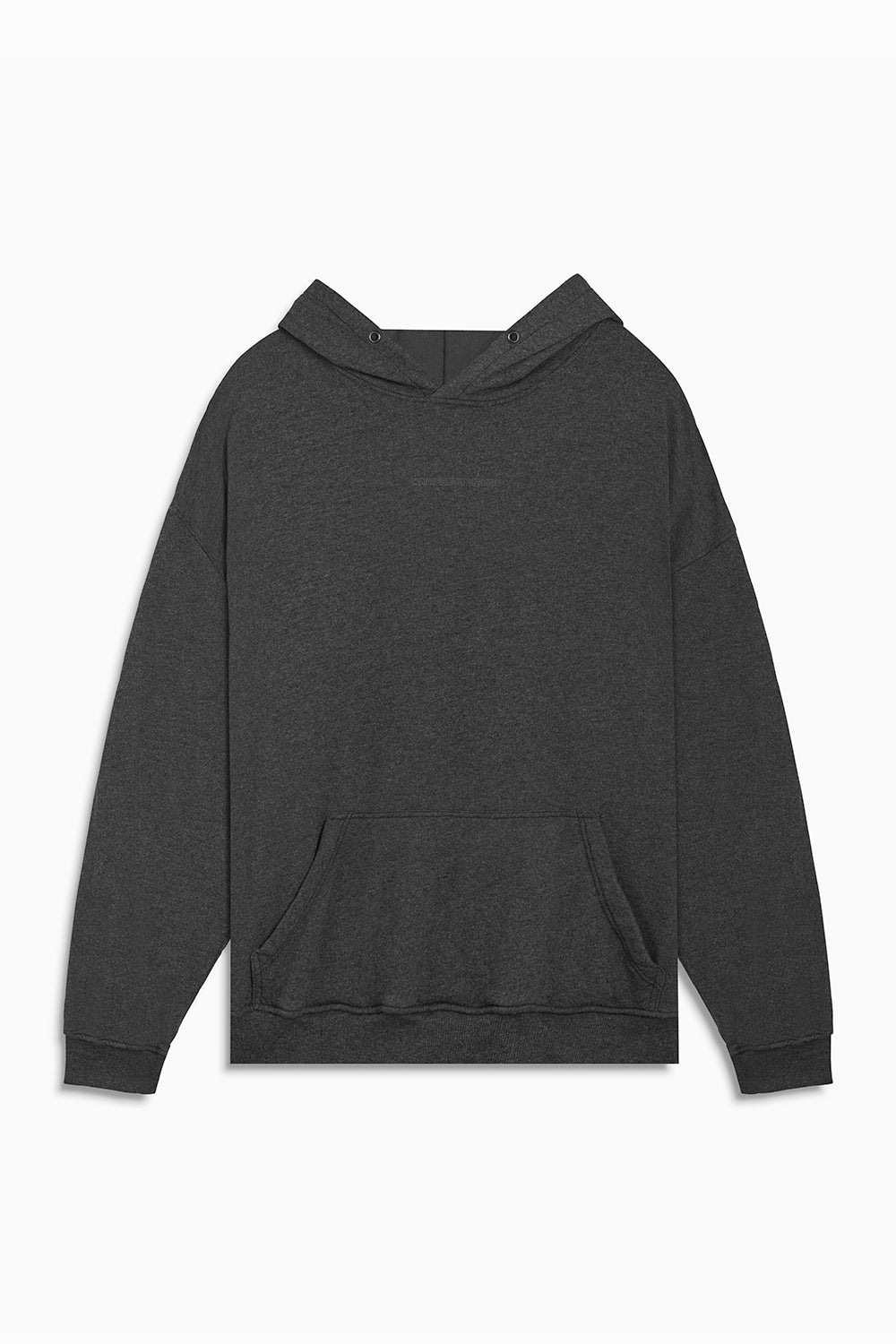 loop terry standard hoodie / black heather