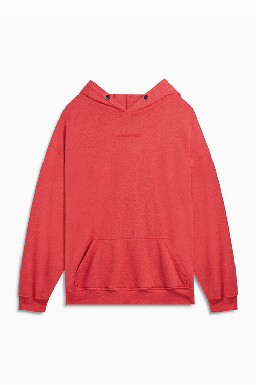 loop terry standard hoodie / red heather