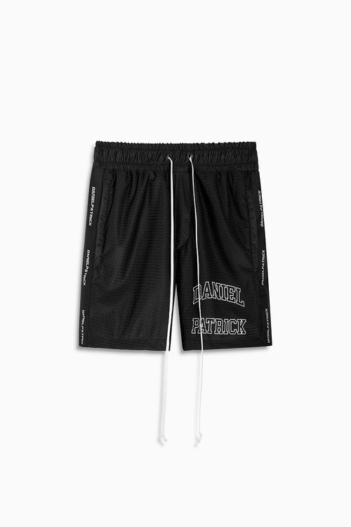 varsity gym short / black