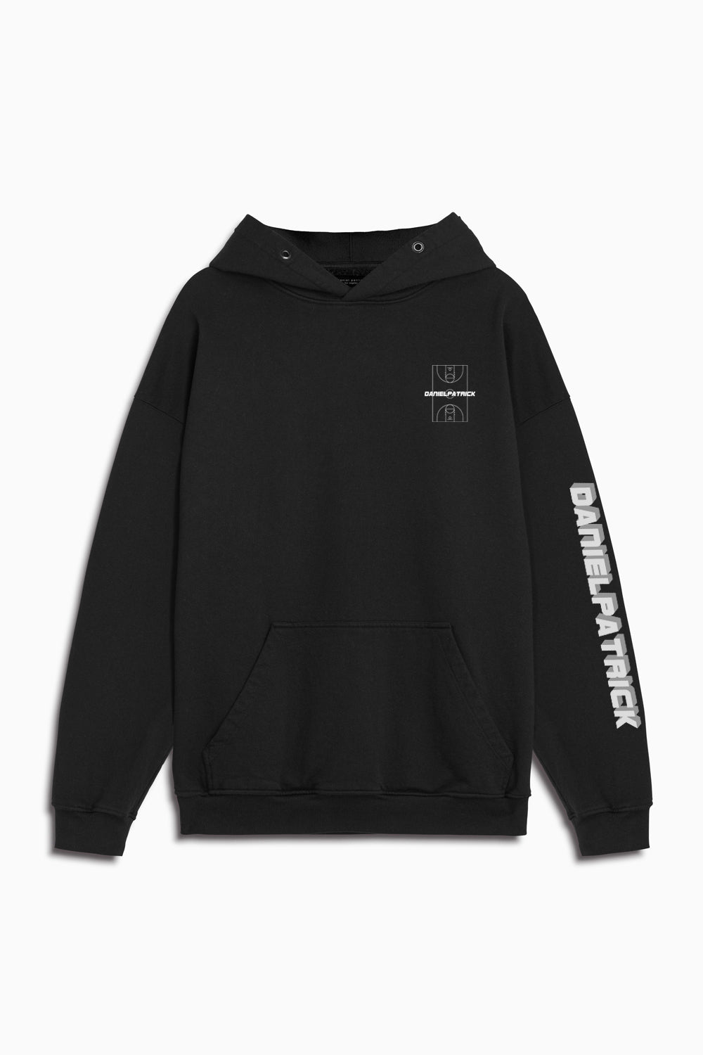 DP court hoodie in black by daniel patrick