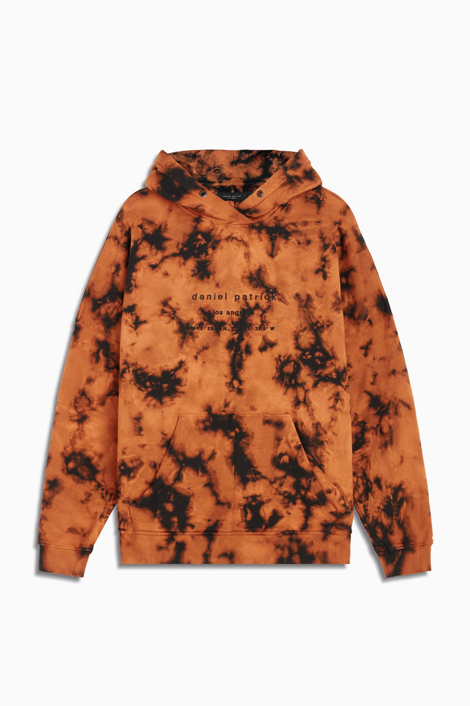 heavy hoodie LA in orange acid by daniel patrick