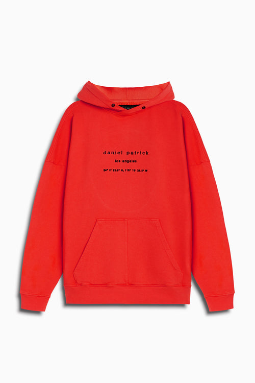 heavy hoodie LA in red by daniel patrick