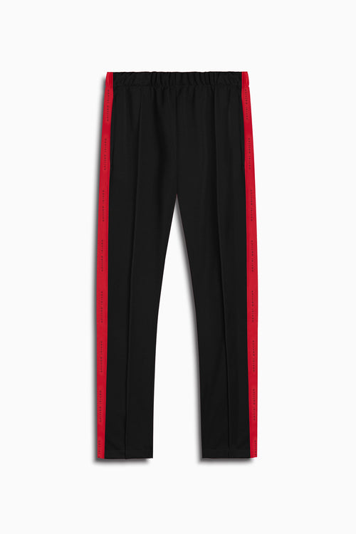 heroine track pant in black/red by daniel patrick