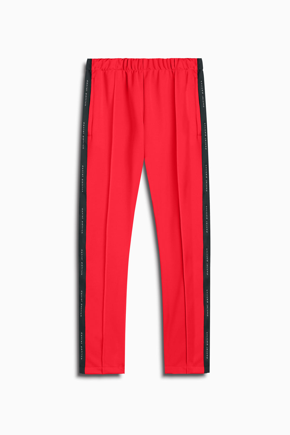 heroine track pant in red/black by daniel patrick