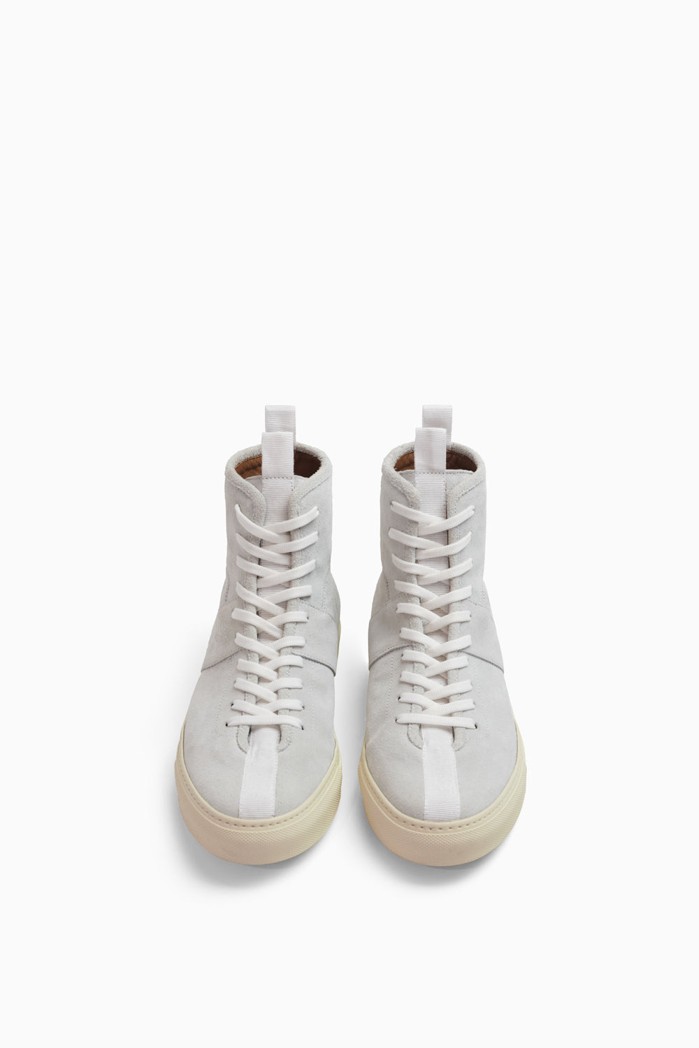 high top roamer in white suede by daniel patrick
