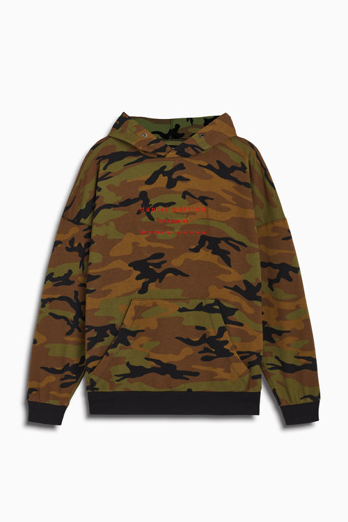 LA hoodie in camo/red by daniel patrick