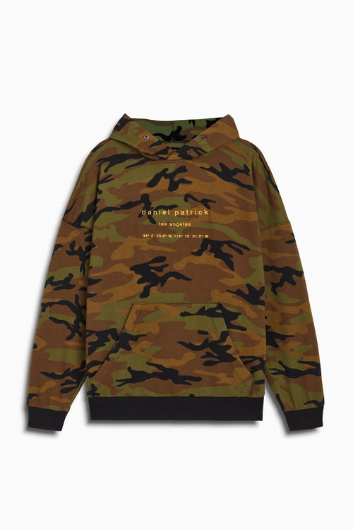 LA hoodie in camo/yellow by daniel patrick