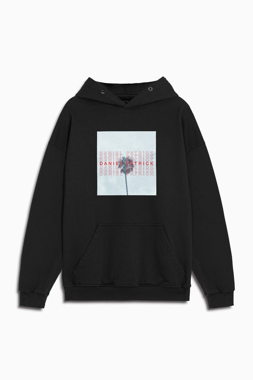 LA palm hoodie in black by daniel patrick