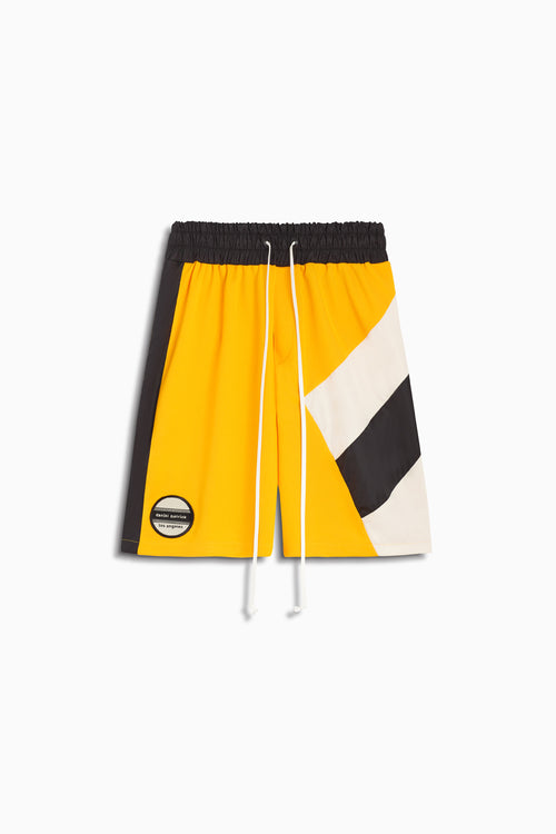 LA shorts in yellow/black/ivory by daniel patrick