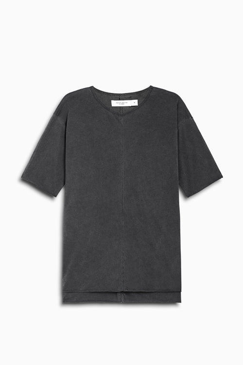 layered tee ii in vintage black by daniel patrick