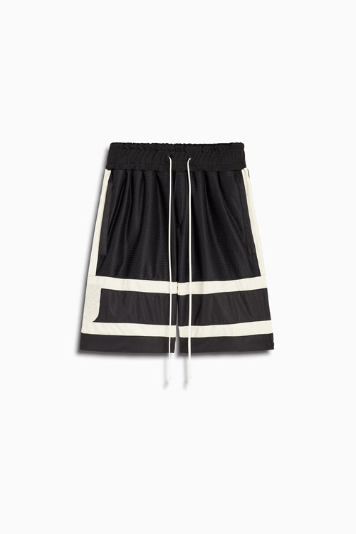 5.5 gym short in black/ivory by daniel patrick