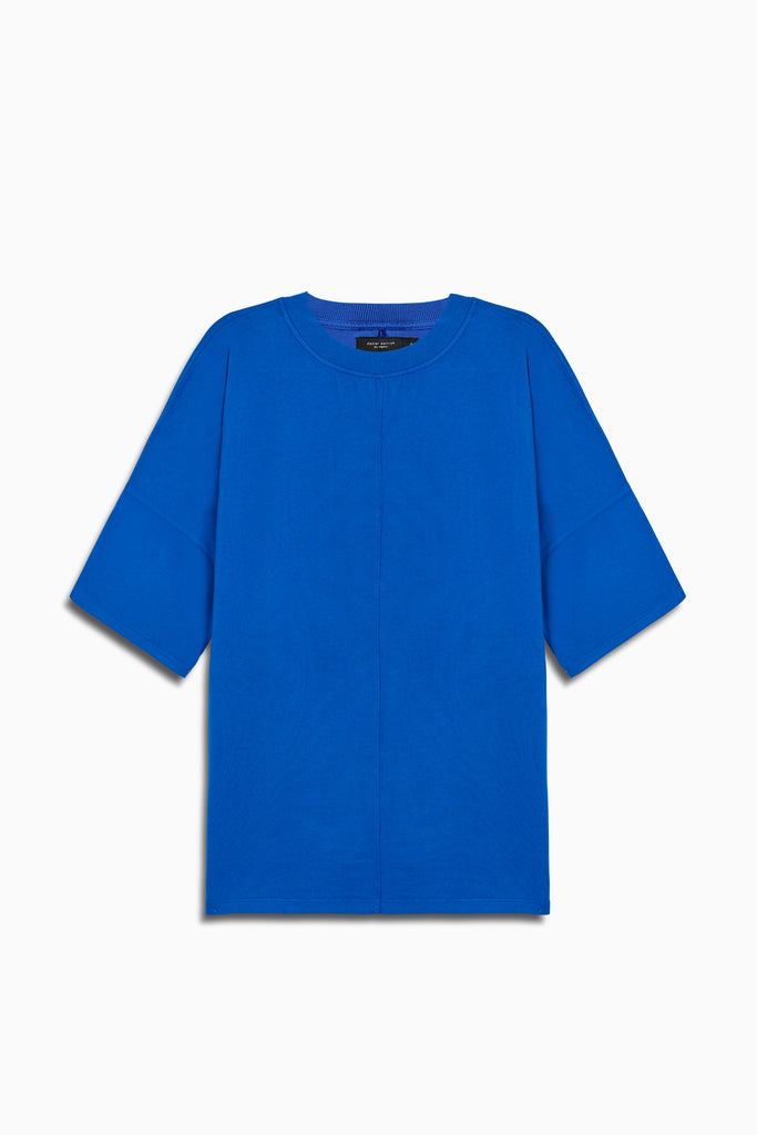 oversized box heavy tee in cobalt by daniel patrick